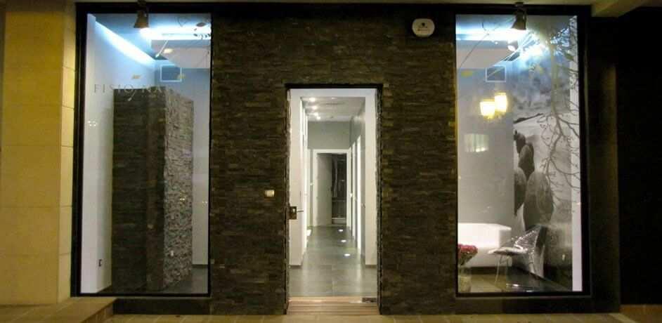 Fachada Exterior De Local Comercial Con Piedra Natural cantabria vizcaya burgos palencia asturias madrid