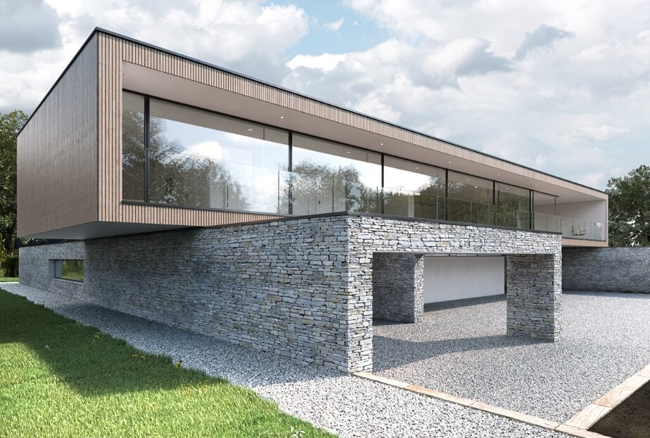 Inspiracion Fachadas De Piedra Natural Casas Modernas cantabria vizcaya burgos palencia asturias madrid